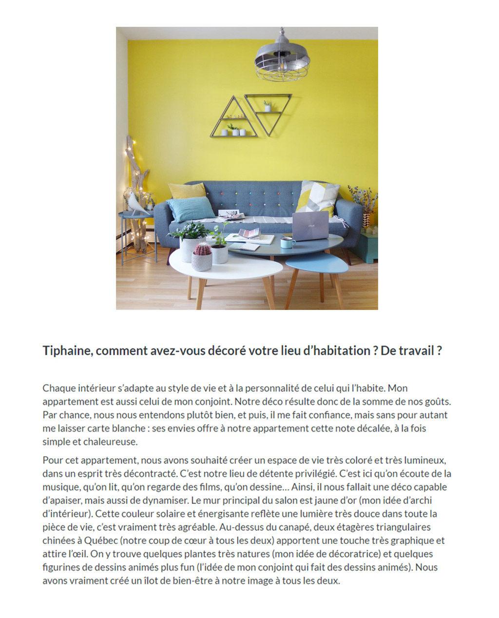 Publication Prontopro. Vue sur l'article